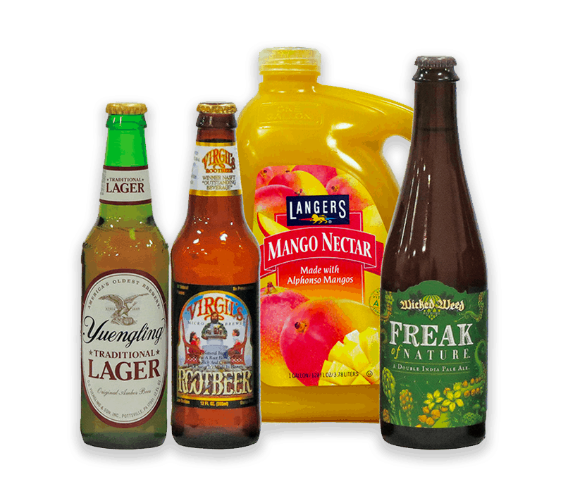 Market Beverages that have been labeled by Gamse