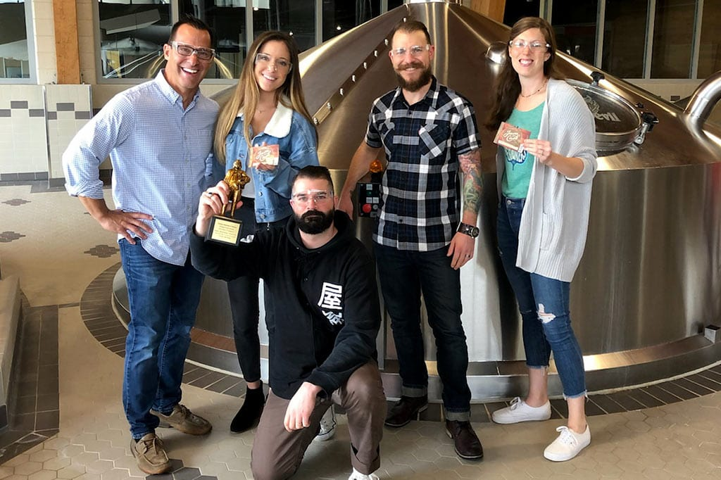 Gamse Team poses for a picture with their Best of Category 2019 Award