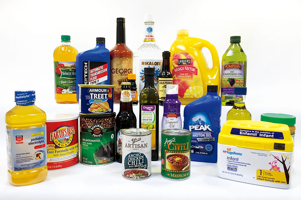 Collection of products with labels created by Gamse