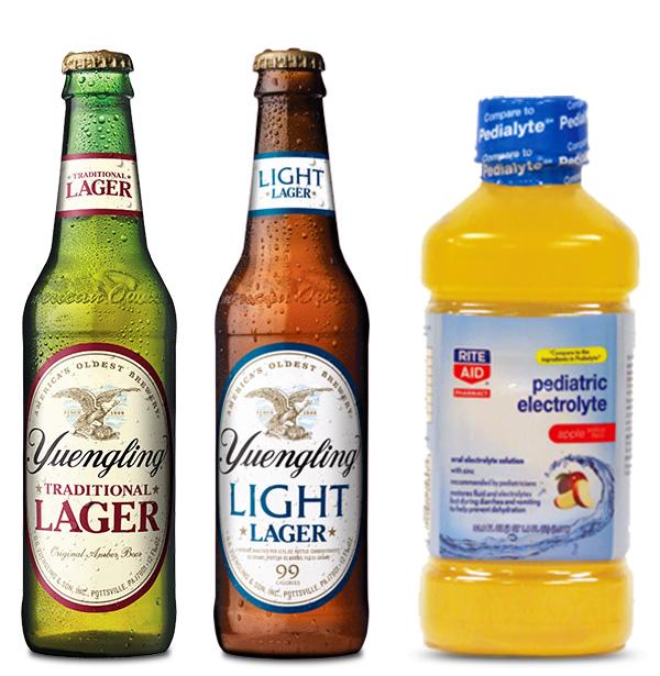 Gamse Beverage Labels - Yuengling,Yuengling Light, Rite Aid Pediatric Electrolytes
